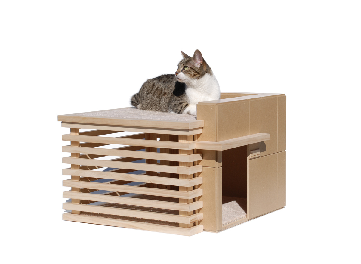 Modern cat furniture house made of paper for Furniture house